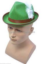 Carnival foam fun hat/OKtoberfest got beer hat oktoberfest german beer festival hat with feather HT 5368