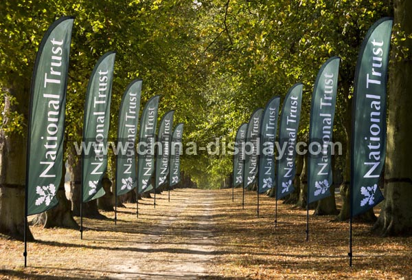 Advertising outdoor teardrop banner, teardrop flag, beach flag