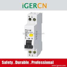 Australia style earth leakage circuit breaker RCBO PYL1-32 25A