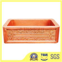 antigüedades martillado fregaderos de cobre