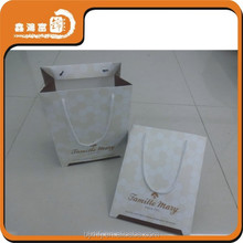 new style cheap small art paper black color gift bag