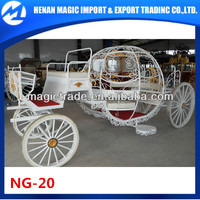 white cinderella horse carriages for wedding made in China