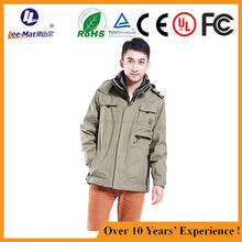 battery heated jacket/electric heating jacket/heated clothing