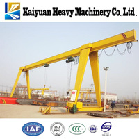 China famous brand MH 5t type rail mounted gantry travelling crane with electric hoist with best price