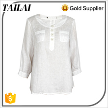 Professional manufacture 2016 new Casual ladies woman linen shirt