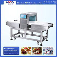 MCD-F500QD OEM dimension size conveyor food high sensitivity metal needle detector for food processing industry