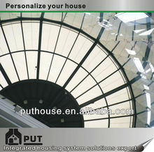 dome steel structureand glass roofing