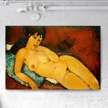 Modern portrait indian nude art painting on canvas African woman