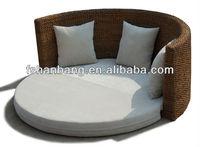 Patio Round Rattan Sofa Set