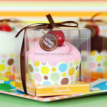 Gift Cupcake Design Towel Favors
