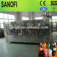 bottled soda water filling machinery/carbonated drink water plant