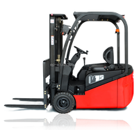Electric rear drive forklift compact size CPD15TVE side picking battery system