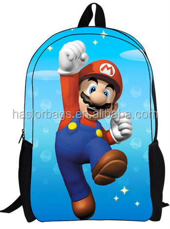 Nouveau Design image mignonne de sac d'école pour garçon