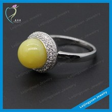 Wholesale Manufacturer value 925 silver jewelry gemstone ring