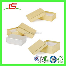 Q1120 Wholesale China Decorative Foil Gold Paper Box With Lid Template