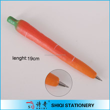 Advertising cute carrot shaped ball pen with magnet
