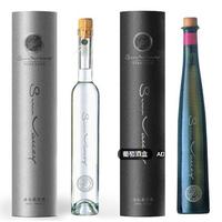 Luxury rigid paper cardboad round wine tube champagne box