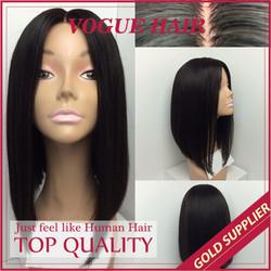 Heat Resistant Glueless High Temperature Fiber Wig Black Synthetic Hair Bun