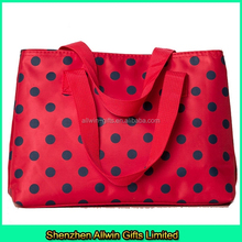Best selling fashion dot travel cosmetic bag portable bag organizer