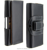 Shenzhen Factory For iPhone 5S Synthetic Leather Pouch Bag Case With Holster Waist hanging Belt Clip