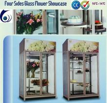 Glass door beautiful flowers display refrigerators for sale