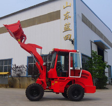 1 ton Chinese mini farm tractor with front end loader CE approved