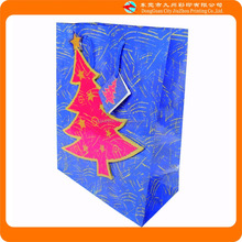 Christmas Day red christmas tree blue paper gift packaging bag