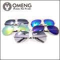 de metal de moda espejo aviador gafas de sol