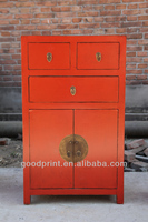 Multi Use Antique Solid Wood Reproduction Decorative Curio Cabinet