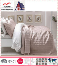 light pink Wholesale Hot sale simple pattern cotton embroidered quilt