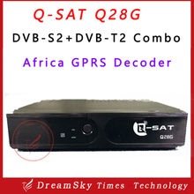 Stocks for Q-SAT Q28G HD GPRS Decoder with two accounts open English and French channels and DVB-T2&S2 combo for Africa