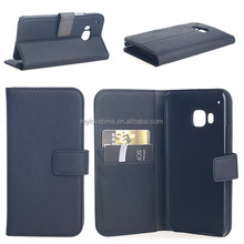 genuine leather case for HTC one M9, genuine leather flip case for HTC one M9
