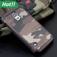 For Samsung Galaxy Note 5 Case Popular Camouflage 2 in 1 Genuine Leather Cell Phone Back Cover High Quality