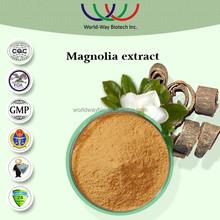 Free sample magnolia bark extract,HACCP FDA Kosher 98% honokiol,95% magnolol,98% total magnolols magnolia bark extract