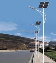 Lastest design high performance integrated solar street light, 50W solar street light with pole complete 5 years warranty