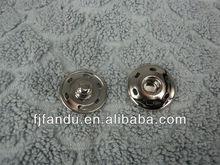 Silver metal secret snap button for garments