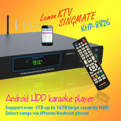 Android HD karaoke machine with HDMI 1080P ,Select songs via iPhone/Android phone ,songs favorite function ,Insert COIN