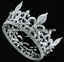 Wholesale Men's Imperial Medieval Fleur De Lis Silver King Crown CT1717