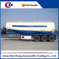 CIMC bulk Cement powder semi trailer 3 axles bulk silo trailer truck
