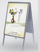 Double Sided Poster Standing, Free Standing Display,A aluminum Picture Frame