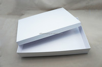 Promotional Price Clear White Top Luxury Design Gift Shirt Packaging Box