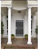 Multifunctional security steel mesh screen door for Homes