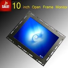 VGA+AV input, 10 inch open frame tft lcd touch screen monitor for POS System