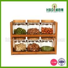 venda quente de alta qualidade personalizado vasilha de vidro fixados para a venda
