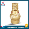 foot valve PTFE seated brass foot valve with forged and 600wog cw 617n PN 16 high pressure nipple.