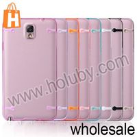 PC+TPU Beatiful Noctilucent Dual Color Protective Cases for Samsung Galaxy Note 3 N9000 N9002 N9005 Orange