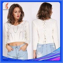 Knitted Women Adults OEM Service Plain Crop Tops Wholesale