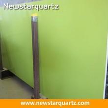 Newstar factory pure green quartz slab for acrylic vanity top