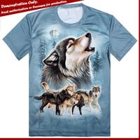 3D t shirt factory custom photo t shirt man t-shirt