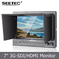 cheapest professional 3G-SDI monitor 7 inch led backlit 450nit bright feature camera 5D II mode peaking assit broadcast cinema